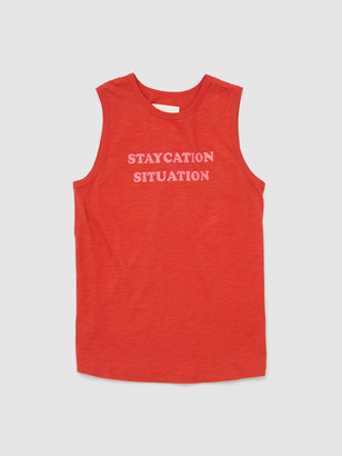 ban.do Staycation Situation Slub Muscle Tank