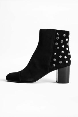 Zadig & Voltaire Lena Suede Studs Boots