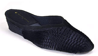 Jacques Levine #4640 - Velvet Wedge Slipper