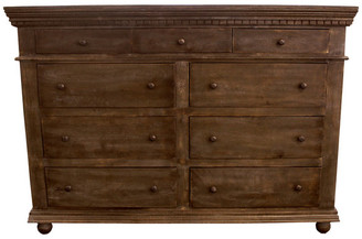 Moti Historic 9-Drawer Dresser, Tobacco Finish
