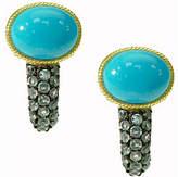 Judith Ripka 14K Clad Turquoise & Blue Topaz Earrings
