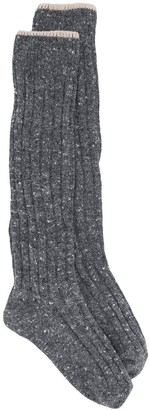 Brunello Cucinelli Chunky-Knit Knee-High Socks