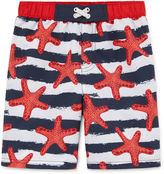 Asstd National Brand Boys Star Fish Swim Trunks-Toddler