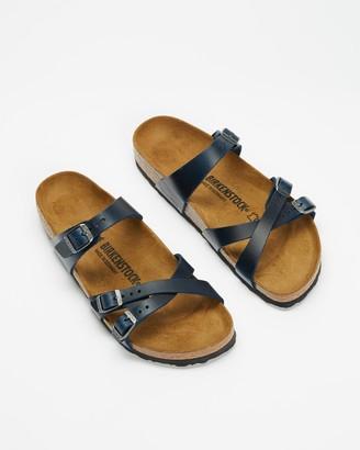 Birkenstock Women's Blue Flat Sandals - Franca Blue Narrow - Women's - Size 37 at The Iconic