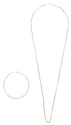 Miansai Threaded Gold-plated Necklace And Bracelet Set - Gold Multi