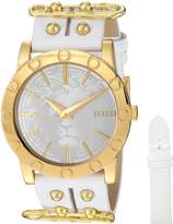 Versus By Versace Women's 'Miami' Quartz Stainless Steel and Leather Casual Watch, Color: (Model: SF7090015)