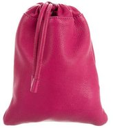 Burberry Grained Leather Drawstring Pouch