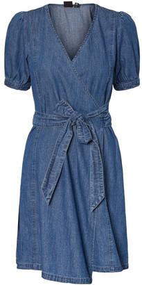 Vero Moda Mogan Denim Wrap Dress