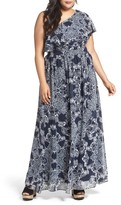 Vince Camuto Plus Size Women's One-Shoulder Maxi Dress