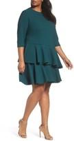Eliza J Plus Size Women's Ruffle Tiered Shift Dress