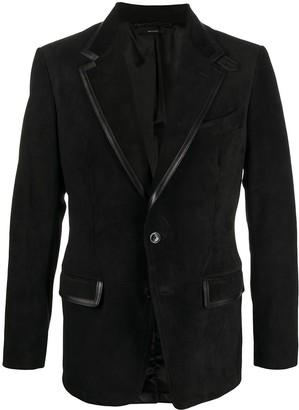 Tom Ford Suede Button-Front Blazer