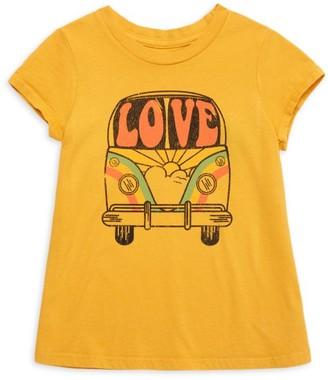 Tiny Whales Little Girl's & Girl's Love Bus T-Shirt
