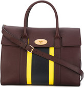 Mulberry stripe panel tote - women - Calf Leather - One Size