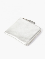 Comme Des Garcons Wallet Silver Leather Coin Wallet