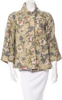 Suno Wool Floral Pattern Jacket