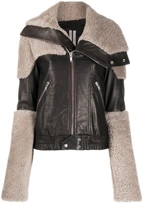 Rick Owens Panelled Leather Biker Jacket