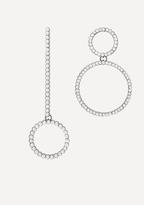 Bebe Crystal Asymmetric Earrings