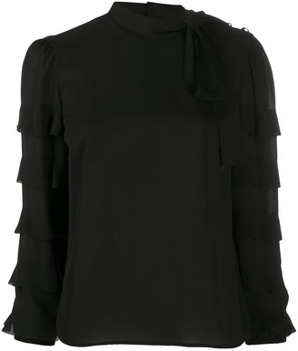 RED Valentino Ruffle-Detail Long -Sleeve Blouse