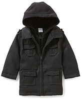 Starting Out Baby Boys 12-24 Months Hooded Faux-Wool Coat