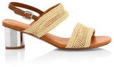 Clergerie Leane Raffia Slingback Sandals