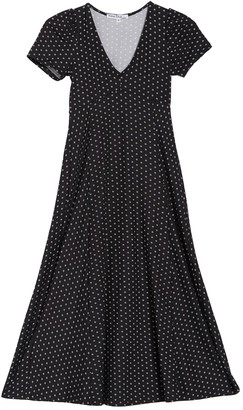 Velvet Torch V-Neck A-Line Midi Dress