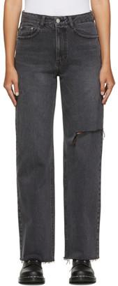 Sjyp Black Clean Cut Jeans
