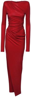 Alexandre Vauthier Draped Microcrystal Jersey Dress