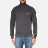 Lacoste Men's Half Zip High Collar Sweatshirt Dark Grey/Jaspe