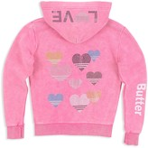 Butter Shoes Girls' Sparkle-Embellished Love Hoodie