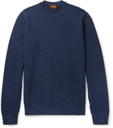 Tod's Slim-Fit Basketweave Merino Wool and Silk-Blend Sweater