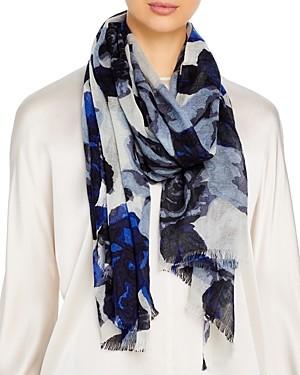 Bloomingdale's Floral Print Wool Scarf - 100% Exclusive