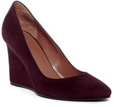 Aquatalia Zana Suede Wedge Pump