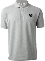 Comme des Garcons embroidered heart polo shirt - men - Cotton - S