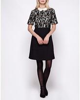 Yumi Short-Sleeved Flared Dress