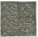 Salvatore Ferragamo graphic lettering scarf - men - Silk/Cashmere/Wool - One Size