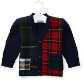 Ralph Lauren Infant Boys' Wool Blend Plaid & Cable Cardigan - Sizes 3-12 Months