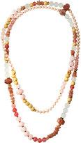 Nakamol Long Mixed-Stone Beaded Rope Necklace, Multi