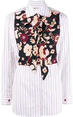 Ports 1961 Floral-Bib Long Sleeve Shirt