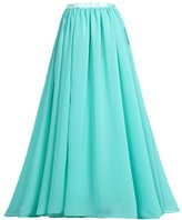 mashahan Women's Long Tulle Skirt Maxi Prom Evening Gown Two Way Formal Skirt