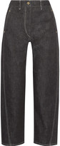 Lemaire Cropped high-rise wide-leg jeans