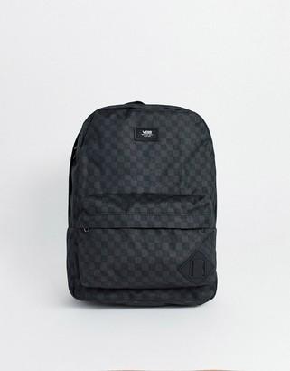 Vans Old Skool III backpack in black/gray checkerboard