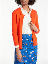Boden Cashmere Crew Cardigan, Pop Red