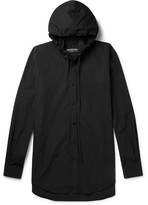 Balenciaga Hooded Cotton-Poplin Shirt
