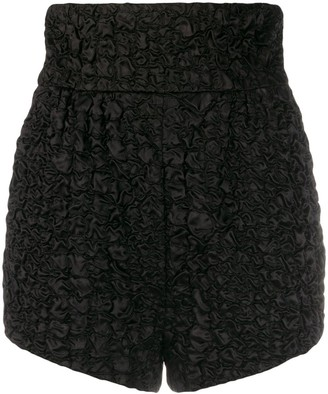 Saint Laurent Textured Short High-Waisted Shorts
