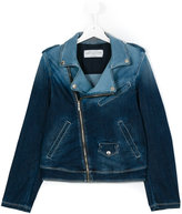 John Galliano denim biker jacket - kids - Cotton/Polyester/Spandex/Elastane/viscose - 14 yrs