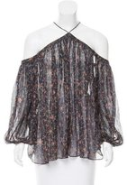Zimmermann Off-The-Shoulder Silk Blouse w/ Tags
