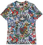 DSQUARED2 Tattoo Printed Cotton Jersey T-Shirt