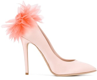 Olgana feathered pumps