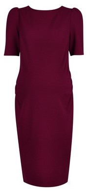 Dorothy Perkins Womens **Maternity Berry Textured Bodycon Dress, Red