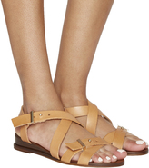 Office Savanna Cross Strap Wedge Sandals